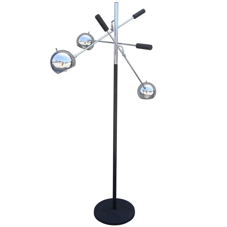"Space Age ""Orbiter"" Floor Lamp by Robert Sonneman"