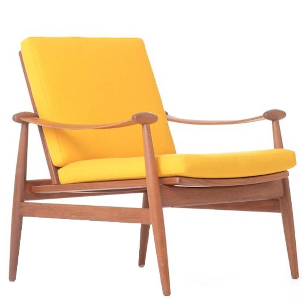 Vintage Danish Modern Lounge Chair by Finn Juhl at 1stdibs