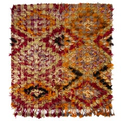 "Happy and Hippie Vintage ""Tulu"" Rug"