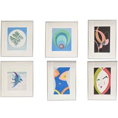 "Set of Six Original Emilio Pucci Lithographs, ""The Art of Emilio Pucci"""