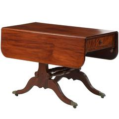 American Classical Mahogany Antique Breakfast Table, New York, 19th Century