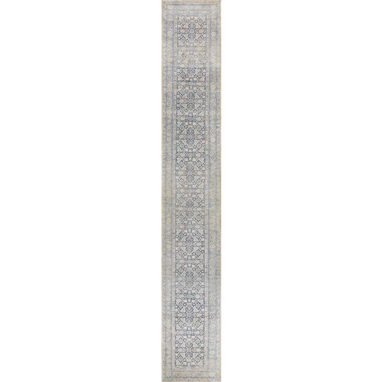 antique light blue decorative persian tabriz runner rug at. Black Bedroom Furniture Sets. Home Design Ideas