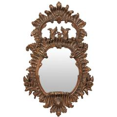 Italian 19th Century Carved Wood Mirror