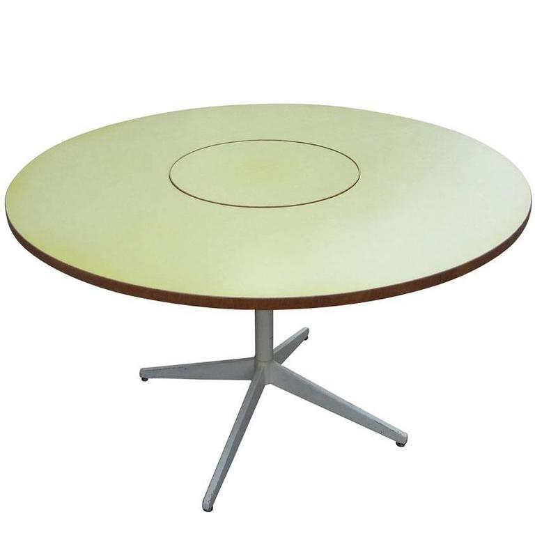 Vintage George Nelson Lazy Susan Dining Table For Herman