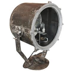 1960s Adjustable Steel Ship Spotlight