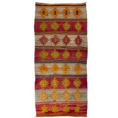 Vintage Turkish Flat-Woven Kilim Rug