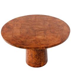 Art Deco Round Thuya Wood Coffee Table