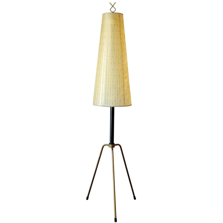Early Italian Tripod Floor Lamp