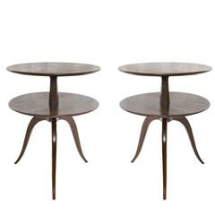 Pair of Oak Side Tables by Paul Frankl for Brown Saltman, 1950s