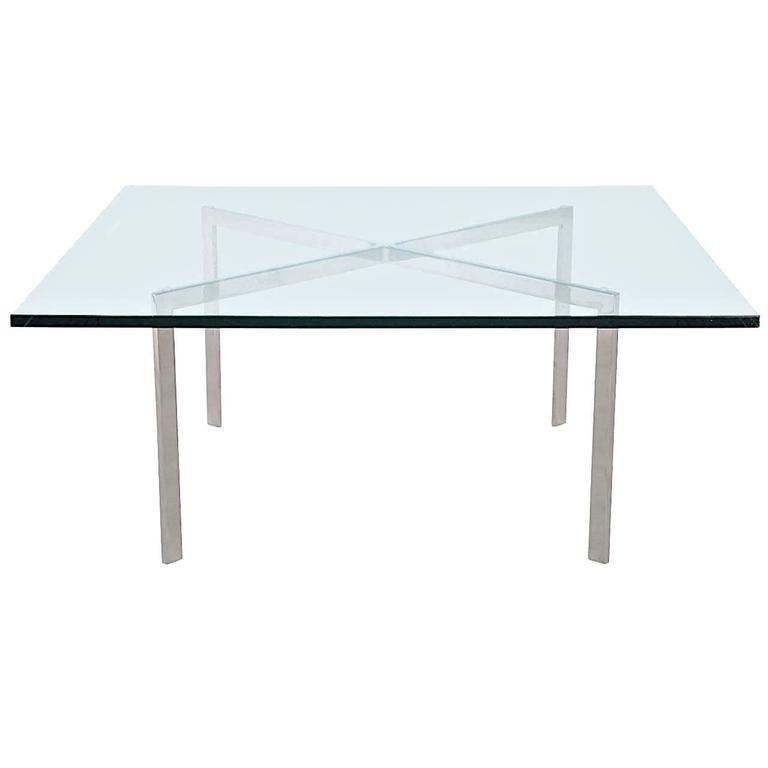 Mies Van Der Rohe Barcelona Table Polished Stainless KP Knoll 1