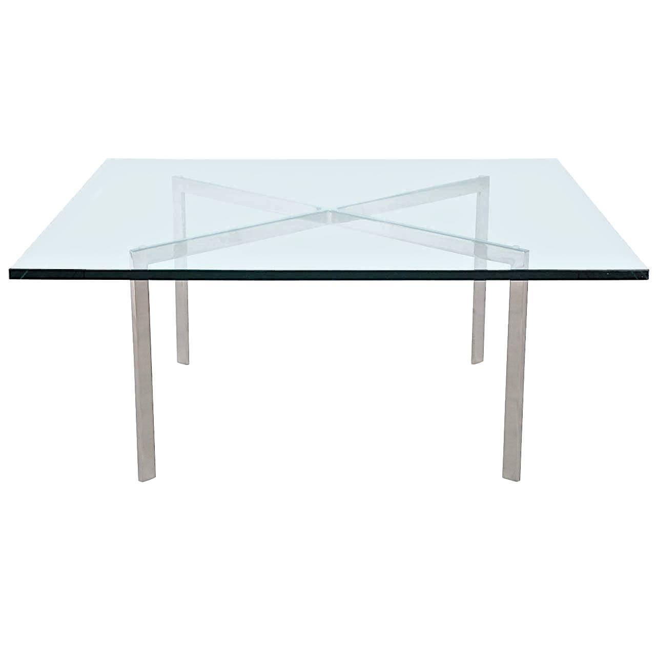 mies van der rohe barcelona table polished stainless kp