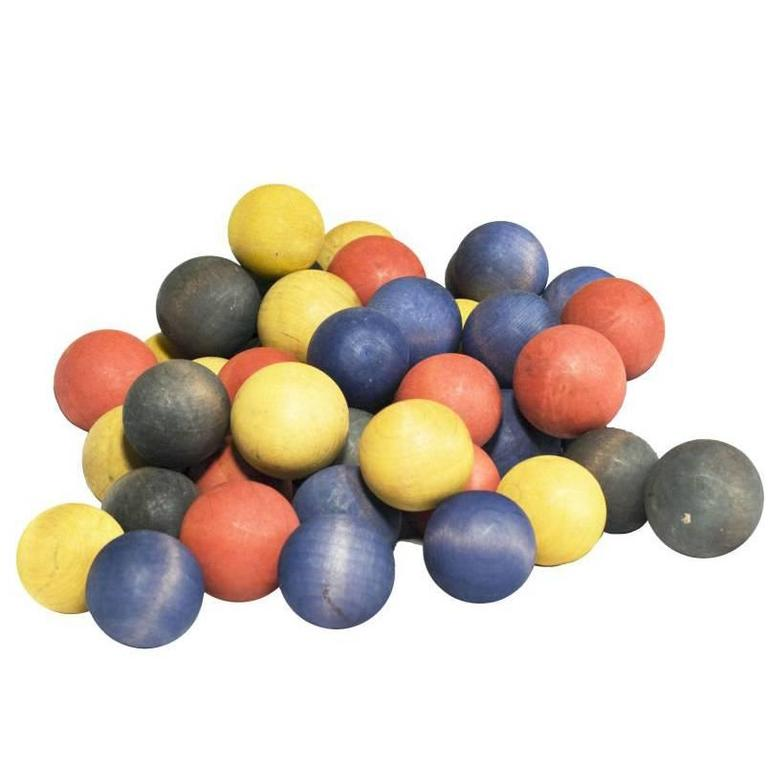 Collection of 50 Vintage Carnival Game Balls 1