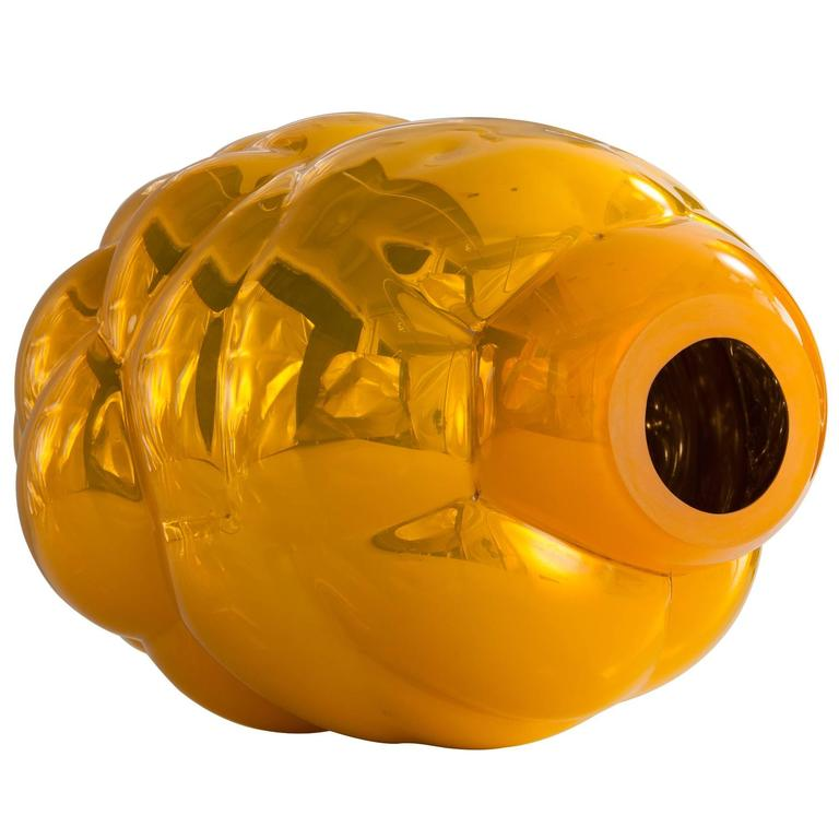 Jeff Zimmerman Furniture ... in Handblown Yellow Mirrorized Glass by Jeff Zimmerman at 1stdibs