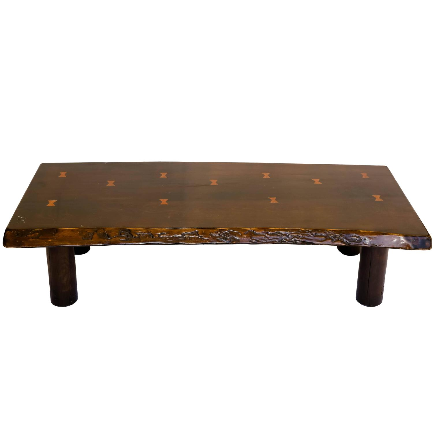 Live Edge Coffee Table with Butterfly Joint Detail at 1stdibs
