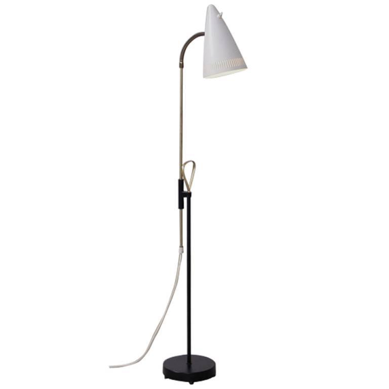 Wall Lamp Height From Floor : Height Adjustable Floor Lamp by FLP Sweden at 1stdibs