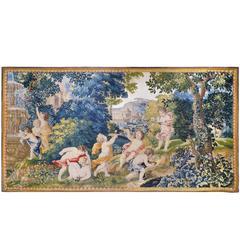 Mortlake 17th Century Rare Tapestry, Children's Games