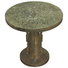 """Etruscan Round"" Side Table by Philip and Kelvin LaVerne"