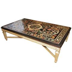 Late 18th Century Italian Florentine Scagliola Coffee Table