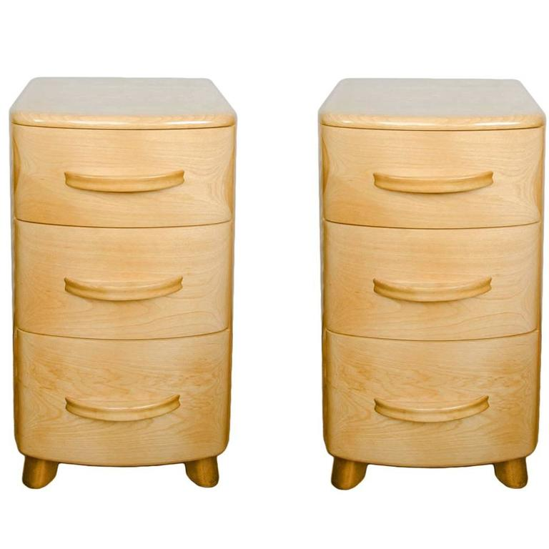 Pair Of 1940s Bedside Cabinets By Heywood Wakefield Co At