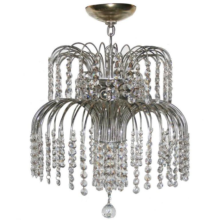 Nickel-Plated Fixture with Crystals