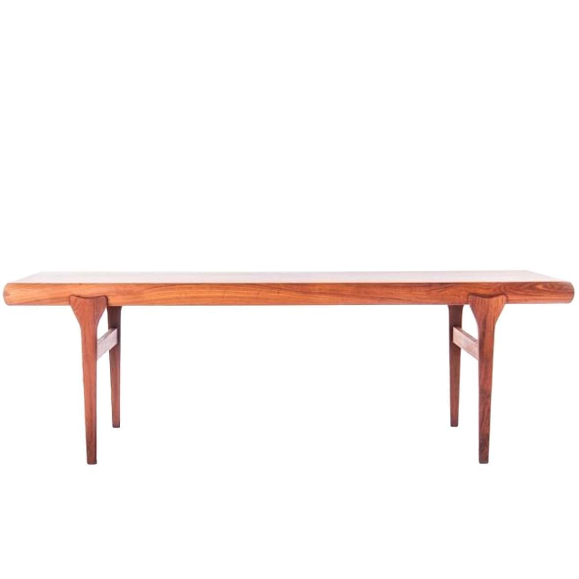 Danish Modern Coffee Table With Retractable Shelves For