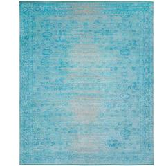 Bidjar Stomped Reverse Turquoise from Bidjar Carpet Collection by Jan Kath.