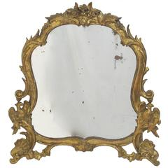 Large 18th Century Italian Vanity Mirror