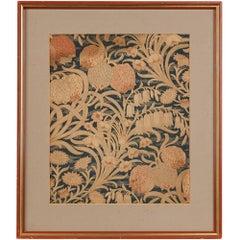 Antique English Fabric Sample Attributed to William Morris, circa 1890