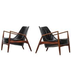 Ib Kofod-Larsen easy chairs model Sälen / Seal by OPE in Sweden