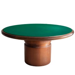 Round Game Table by Sergio Rodrigues, Brazil, circa 1960