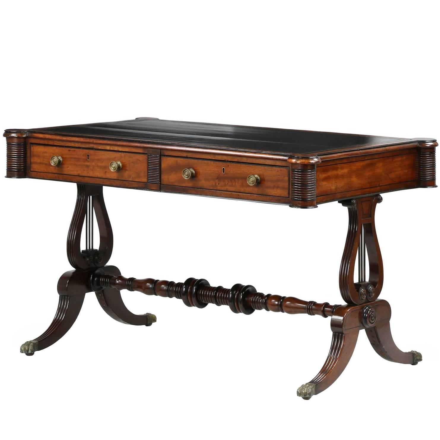 English William IV Mahogany Antique Writing Desk Table, circa 1830 at  1stdibs - English William IV Mahogany Antique Writing Desk Table, Circa 1830
