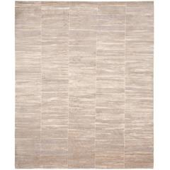 Silver Rug from Precious Panel Carpet Collection by Jan Kath