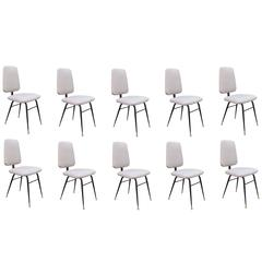 Set of Ten Modernist Dining Chairs