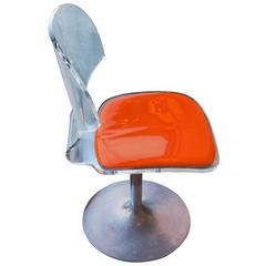 Vintage Lucite Swivel Chair