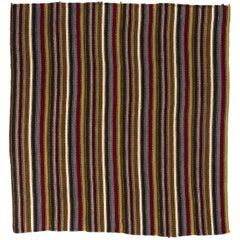 Vintage Striped Flat-Woven Kilim Rug