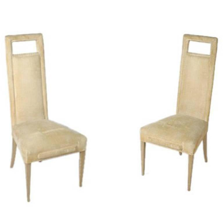 Pair of Richard Himmel High Back Side Chairs B