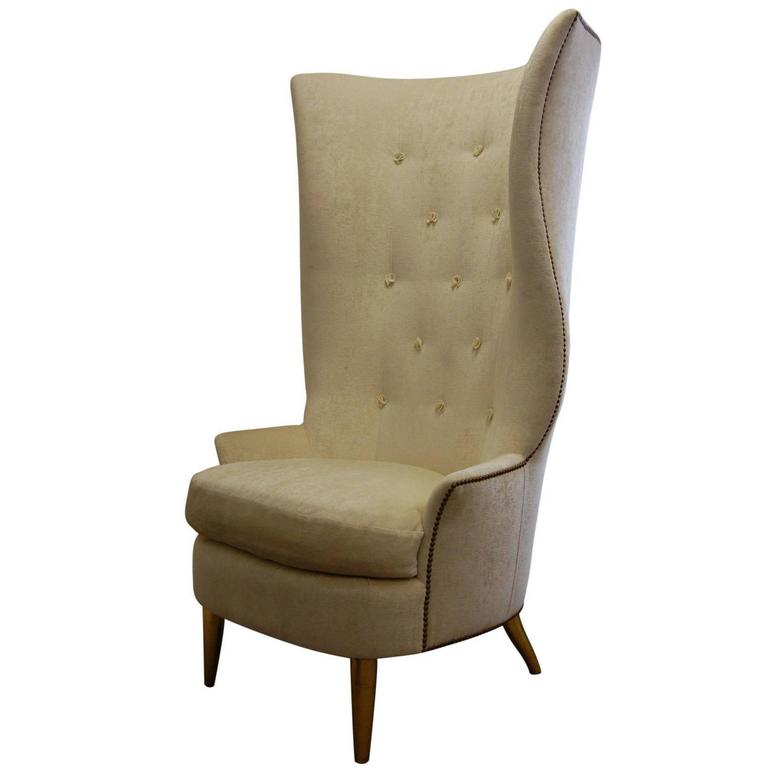 Genial Custom Gudinna Tall Barrel Wing Chair For Sale