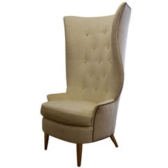 Custom Gudinna Tall Barrel Wing Chair