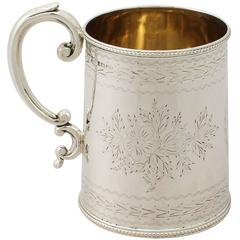Victorian English Sterling Silver Christening Mug