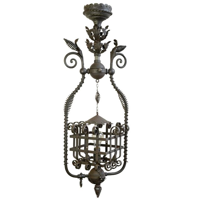 Victorian Wrought Iron Pendant, circa 1890
