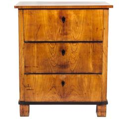Italian Fruitwood Neoclassical Three-Drawer Chest