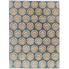 Blue Sino Hand-Knotted Rug