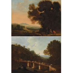 Pair of 17th Century Italian Landscapes