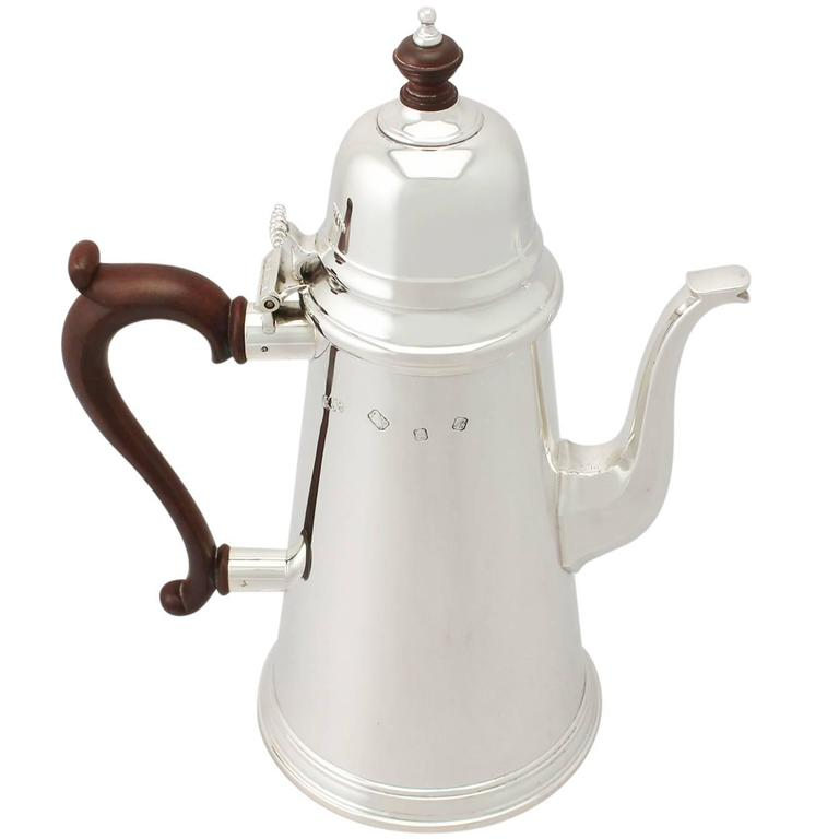 1970s Vintage Sterling Silver Coffee Pot