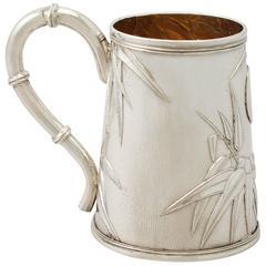 Antique Chinese Export Silver Christening Mug, circa 1900