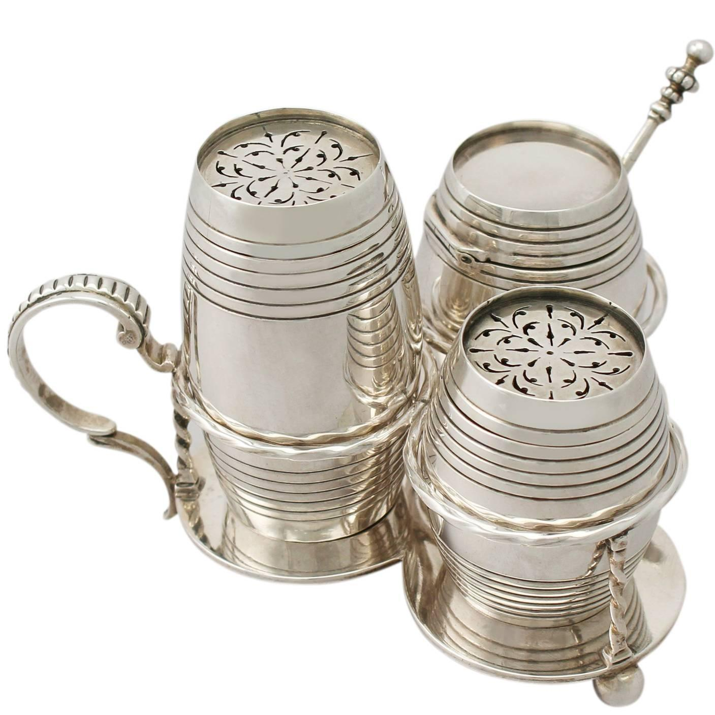 sterling silver cruet set antique victorian for sale at stdibs -