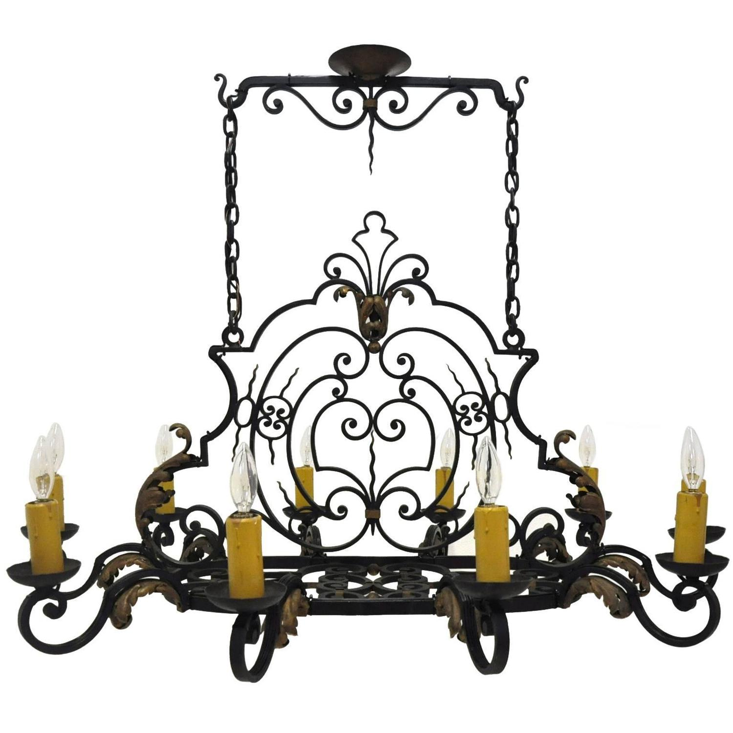 ten light french iron kitchen island chandelier at 1stdibs