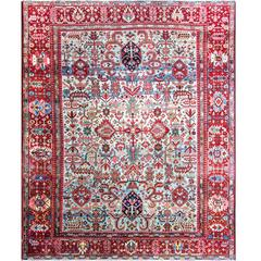 Gorgeous Antique Heriz Serapi Carpet