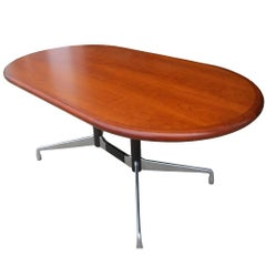 Vintage Herman Miller Table or Desk with Knoll Walnut Top