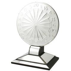 Antique Sterling Silver Dartboard Presentation Trophy